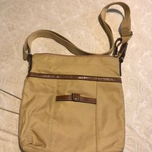 Tan Nine West cross body with adjustable strap